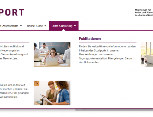 Infoseiten für Lehrende und Beratende im Studiport – Jetzt im neuen Style!