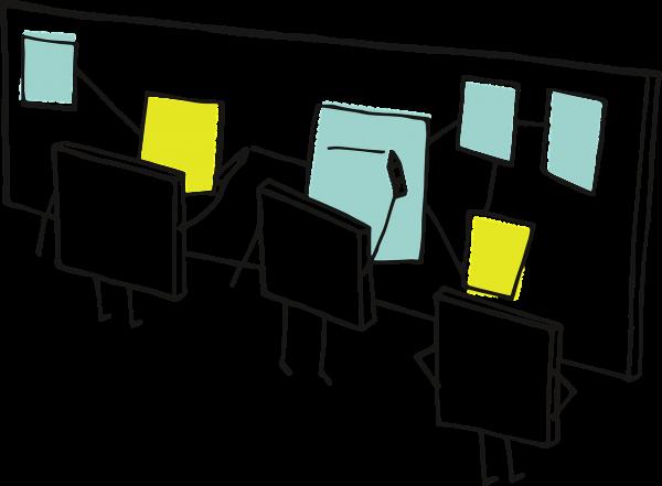 Eine grafische Darstellung kollaborativer Arbeit